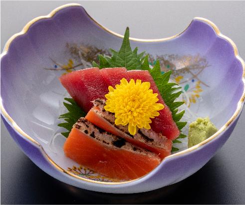Two kinds of sashimi